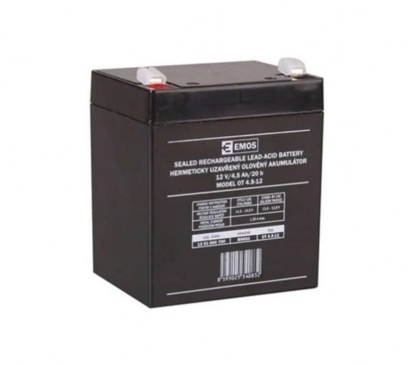 Emos B9653 olověný akumulátor SLA 12V/4,5Ah Faston 4.8mm 1201000700