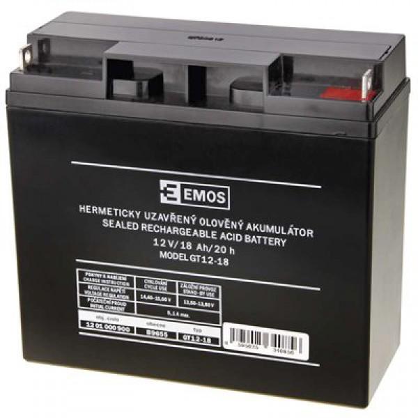 Emos Olověný akumulátor 12V/18Ah B9655 1201000900