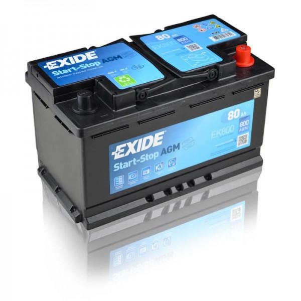 Autobaterie Exide Start-Stop AGM 12V 80Ah EK800