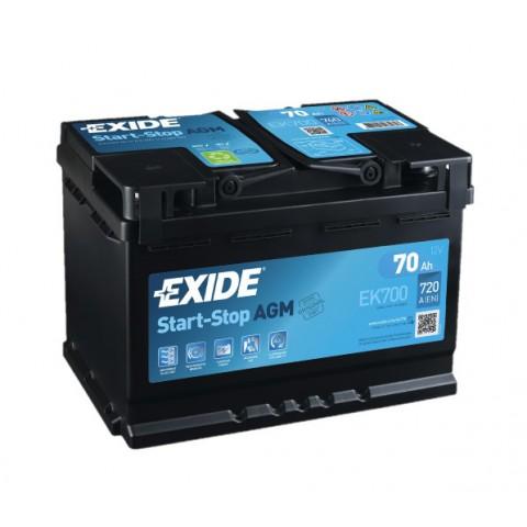 Autobaterie Exide Start-Stop AGM 12V 70Ah 760A EK700