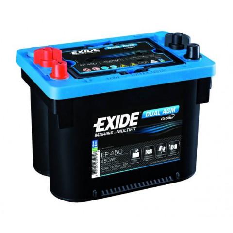 Baterie Exide DUAL AGM 50Ah, 12V, 750A, EP450
