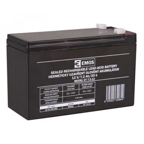 Emos bezúdržbový olověný akumulátor 12V/7,2Ah B9654 1201000800