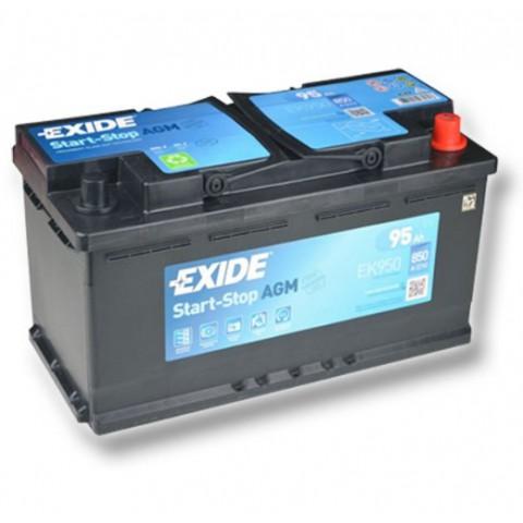 Autobaterie Exide Start-Stop AGM 12V 95Ah 850A EK950