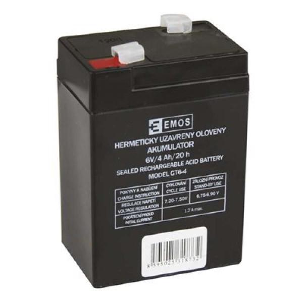 Emos bezúdržbový olověný akumulátor 6V/4Ah pro svítilny 3810 B9641 1201000100