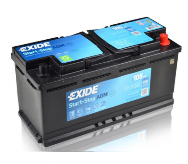Autobaterie Exide Start-Stop AGM 12V 105Ah 950A EK1050